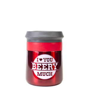 Red / I Love You Beery Much Valentines Stainless Steel Coozie at Cool Gear Valentines