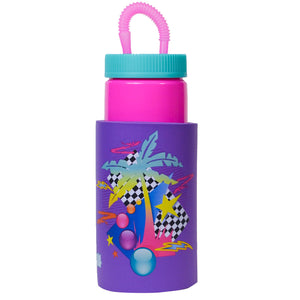 Pink / Vice Palms Retro 32 Oz Water Bottle at Cool Gear Water Bottles