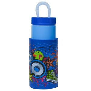 Bright Blue / Music Explosion Retro 32 Oz Water Bottle at Cool Gear Water Bottles