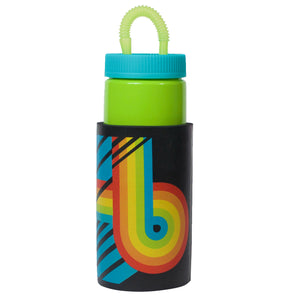 Bright Green / Loop And Lines Retro 32 Oz Water Bottle at Cool Gear Water Bottles