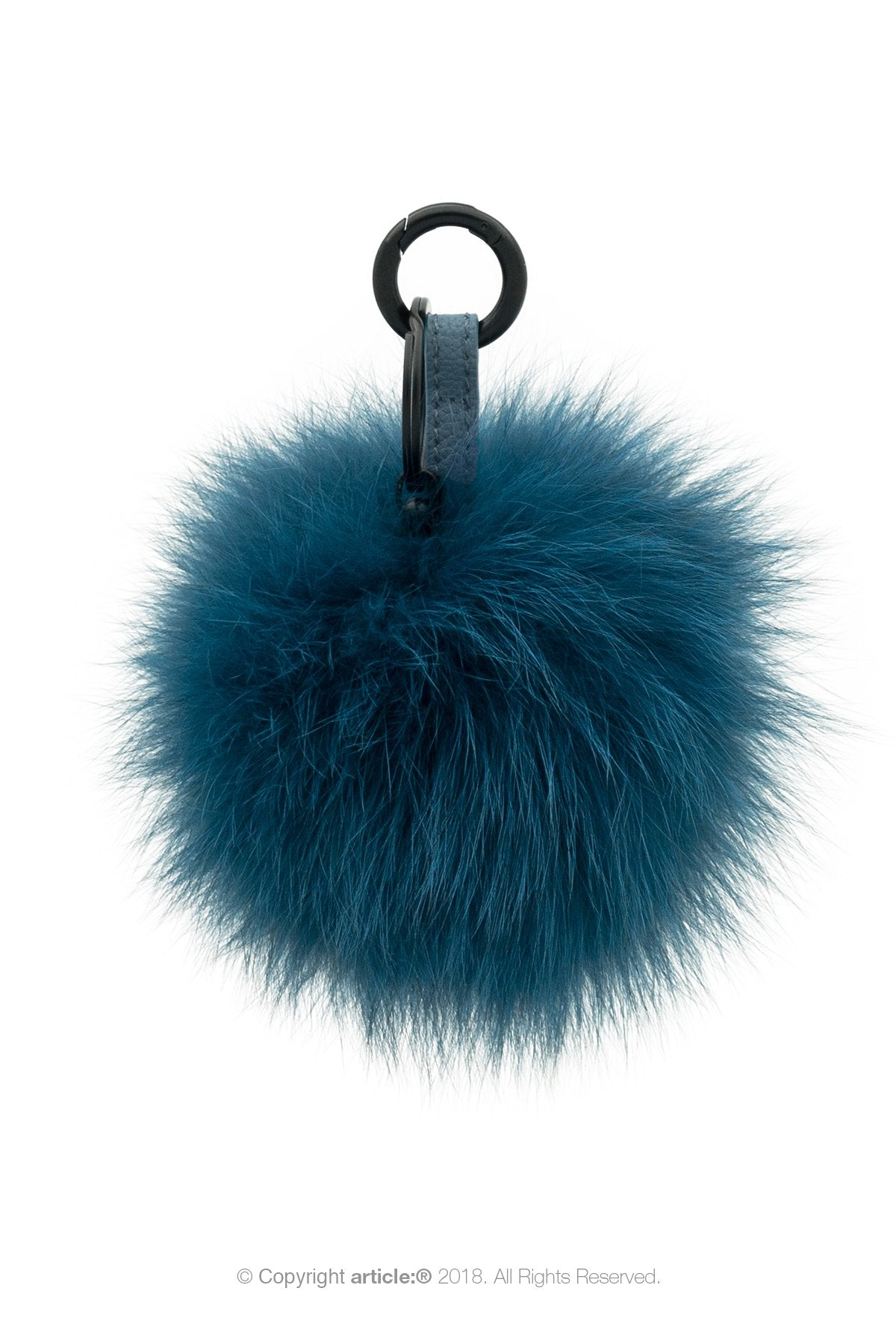 article: #400 Bag Charm / Keyring Pom Pom - Prussian