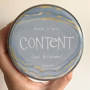 """Content"" Chai & Caramel Candle"