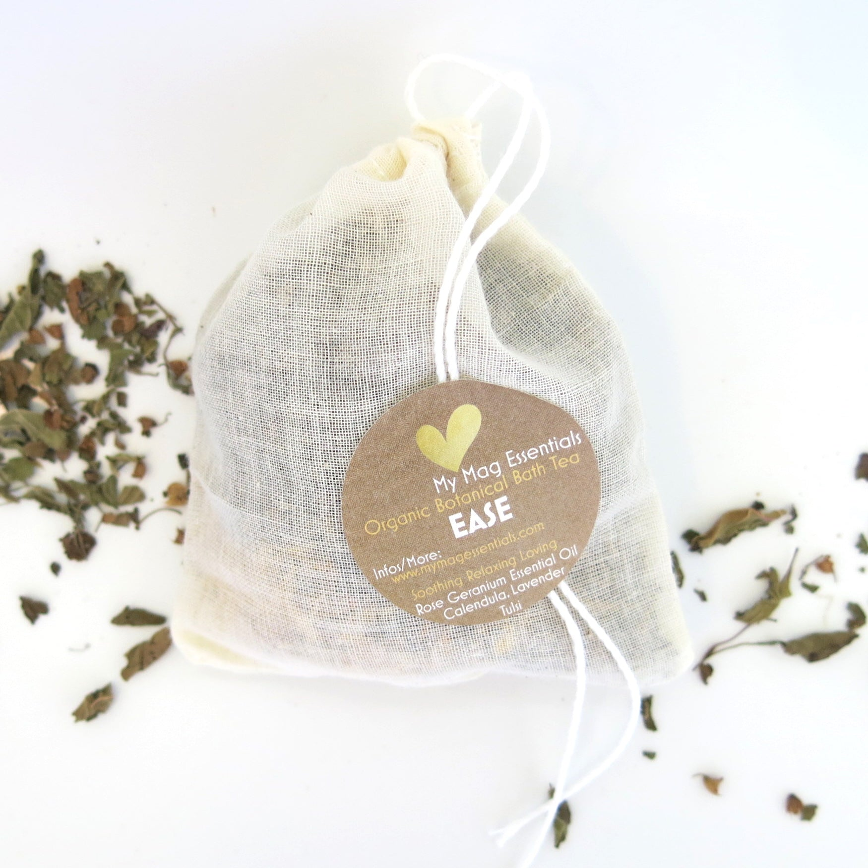 Reusable Organic Herbal Bath Tea infusion - EASE (pack of 5)