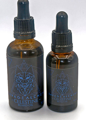 Celestine Beard Oil - Peppermint & Eucalyptus