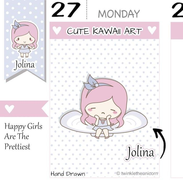 J013 | period stickers TwinkleTheUnicorn