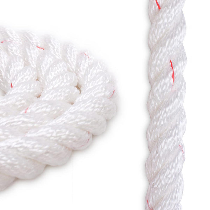 "3/4"" Polyester Combo - White with Red"