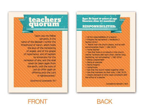 G442 Teachers Quorum Pocket Card