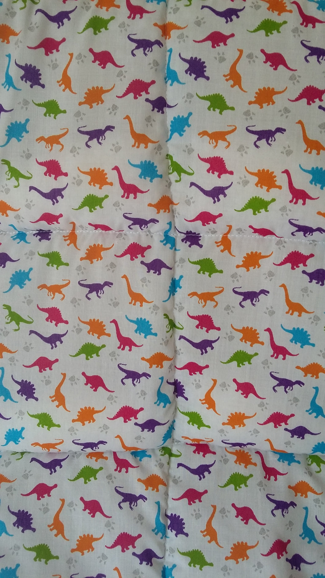 4-10Ib Dinosour Junior bed size weighted blanket