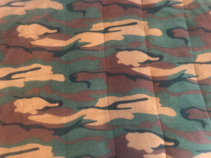 Junior bed camo fleece weighted blanket 4-10Ib