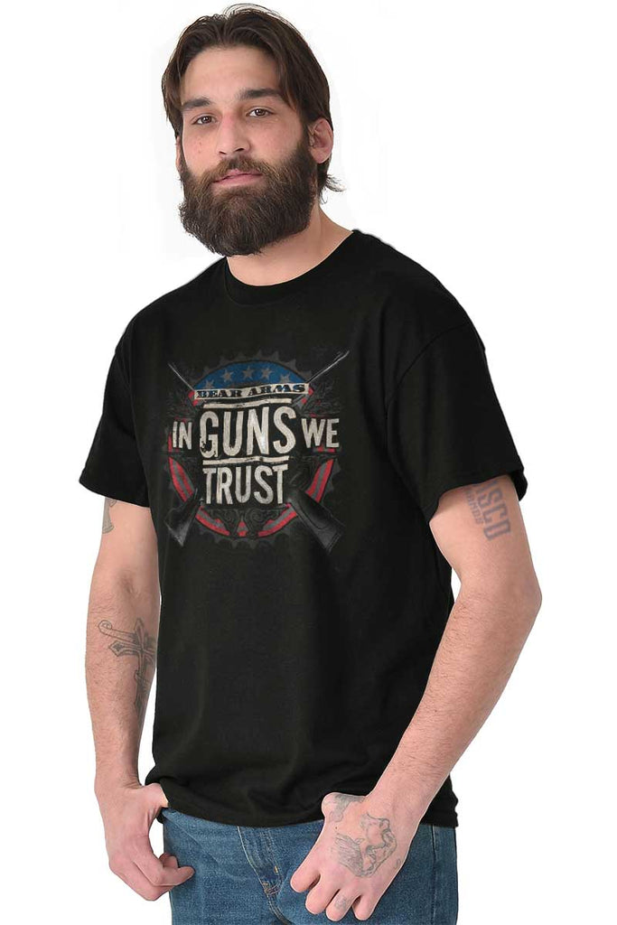 Male_Black2|In Guns We Trust T-Shirt|Tactical Tees
