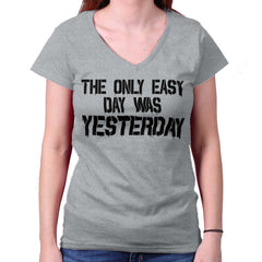 SportGrey|Yesterday Junior Fit V-Neck T-Shirt|Tactical Tees
