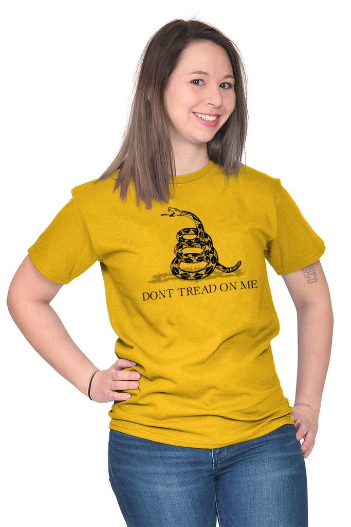 Female_Gold2|Don't Tread On Me T-Shirt|Tactical Tees