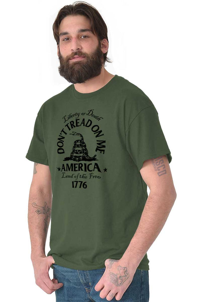 Male_MilitaryGreen2|Dont Tread on Me T-Shirt|Tactical Tees
