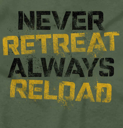 MilitaryGreen|Never retreat T-Shirt|Tactical Tees