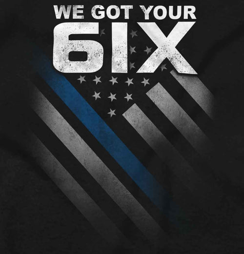 Black2|Blue Lives Matter 6 Junior Fit V-Neck T-Shirt|Tactical Tees