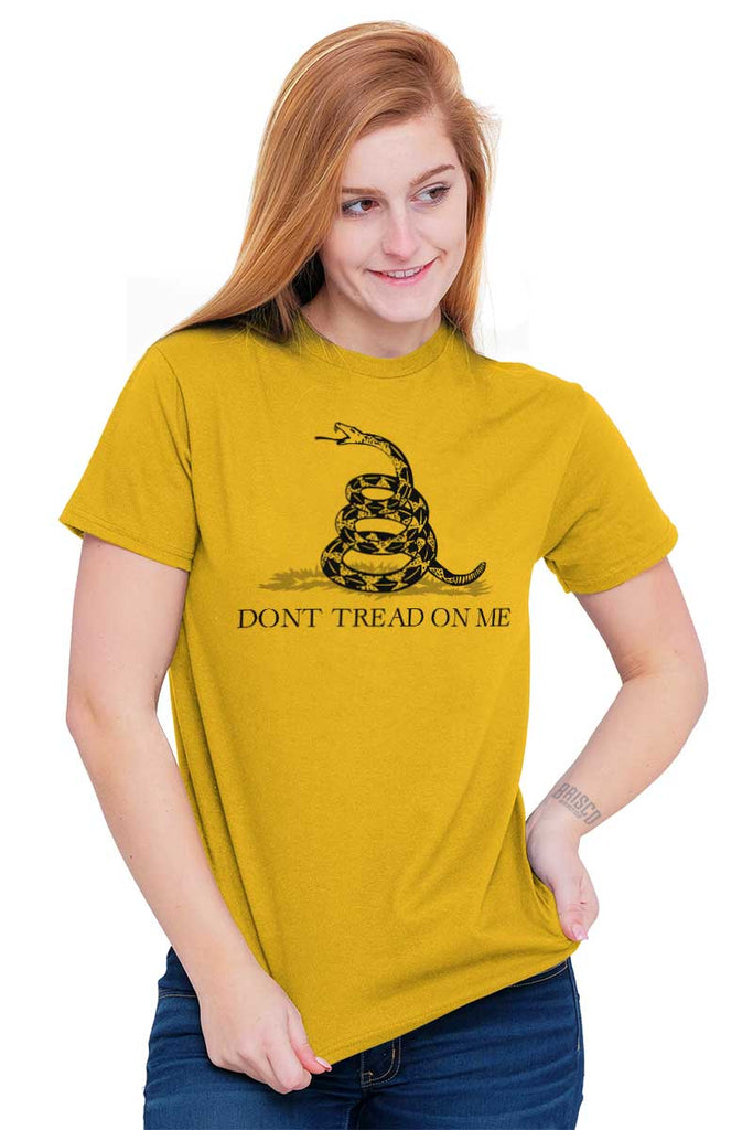 Gold|Don't Tread On Me T-Shirt|Tactical Tees