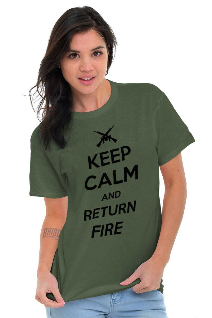 Female_MilitaryGreen2|Return Fire T-Shirt|Tactical Tees