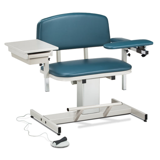 Clinton 6352 Power Series, Extra-Wide, Blood Drawing Chair & Drawer - New