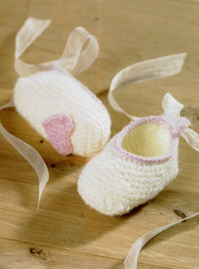 Sirdar Book 411 - The Baby Crochet Book - Design 1300 - Slippers