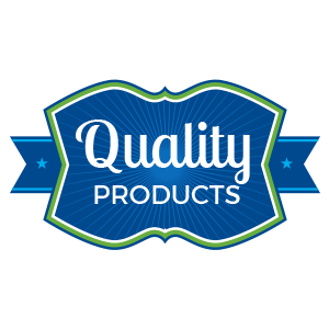 Quality products badge