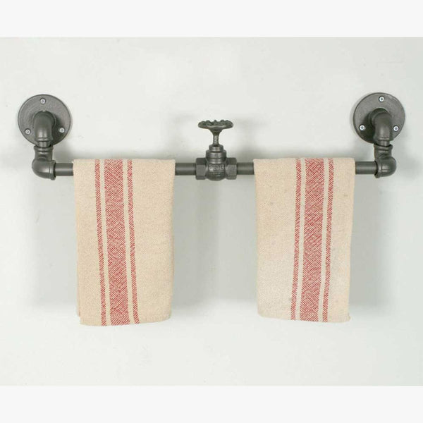 SET OF 2 INDUSTRIAL TOWEL RACK