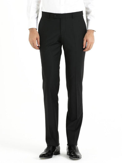 SAYKI Men's Slim Fit Black Classic Pants-SAYKI MEN'S FASHION