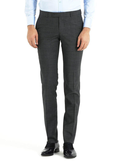 SAYKI Men's Slim Fit Wool Grey Pants-SAYKI MEN'S FASHION