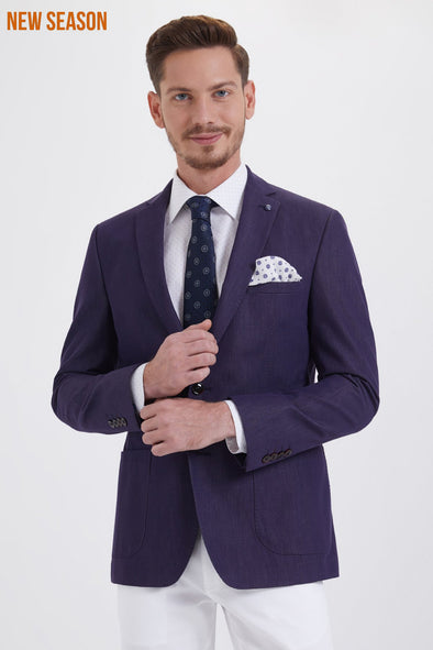 INDIGO SLIM FIT BLAZER