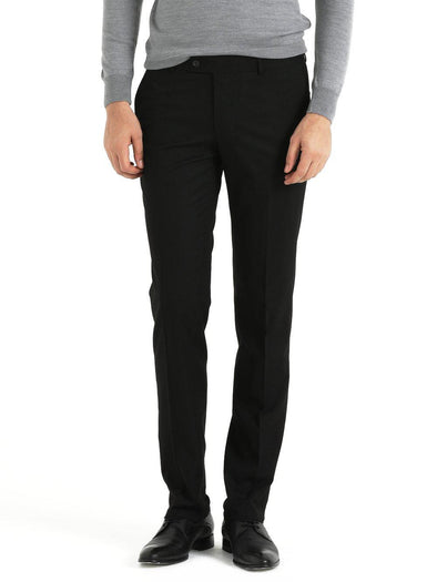 SAYKI Men's Focus Slim Fit Black Pants-SAYKI MEN'S FASHION