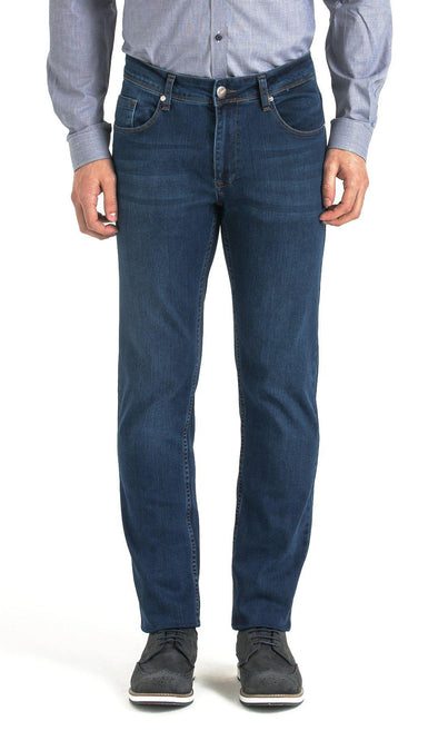 SAYKI Men's Regular Fit Navy Jeans-SAYKI MEN'S FASHION