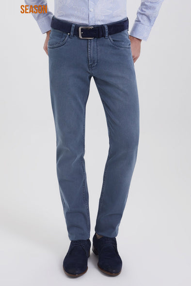 SAYKI Men's Cavani Regular Fit Indigo Jeans