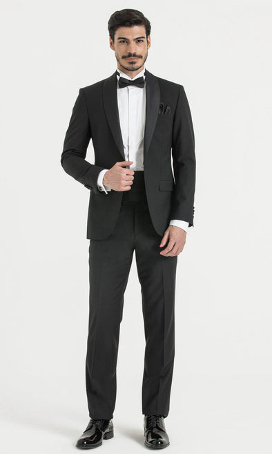 SAYKI Men's Slim Fit Cerimonia Black Tuxedo-SAYKI MEN'S FASHION