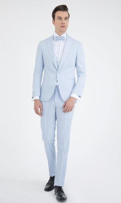 SAYKI Men's Ice Blue Slim Fit Tuxedo-SAYKI MEN'S FASHION