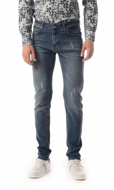 SAYKI Men's Slim Fit Navy Jeans-SAYKI MEN'S FASHION