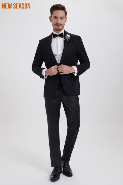 SAYKI Men's Slim Fit Single Breasted Tuxedo