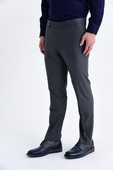 SAYKI Men's Slim Fit Dark Grey Pants