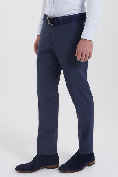 SAYKI Men's Fenix Slim Fit Blue Pants