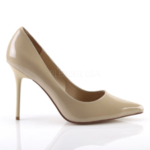 4 Inches Cream Classic Stilettos