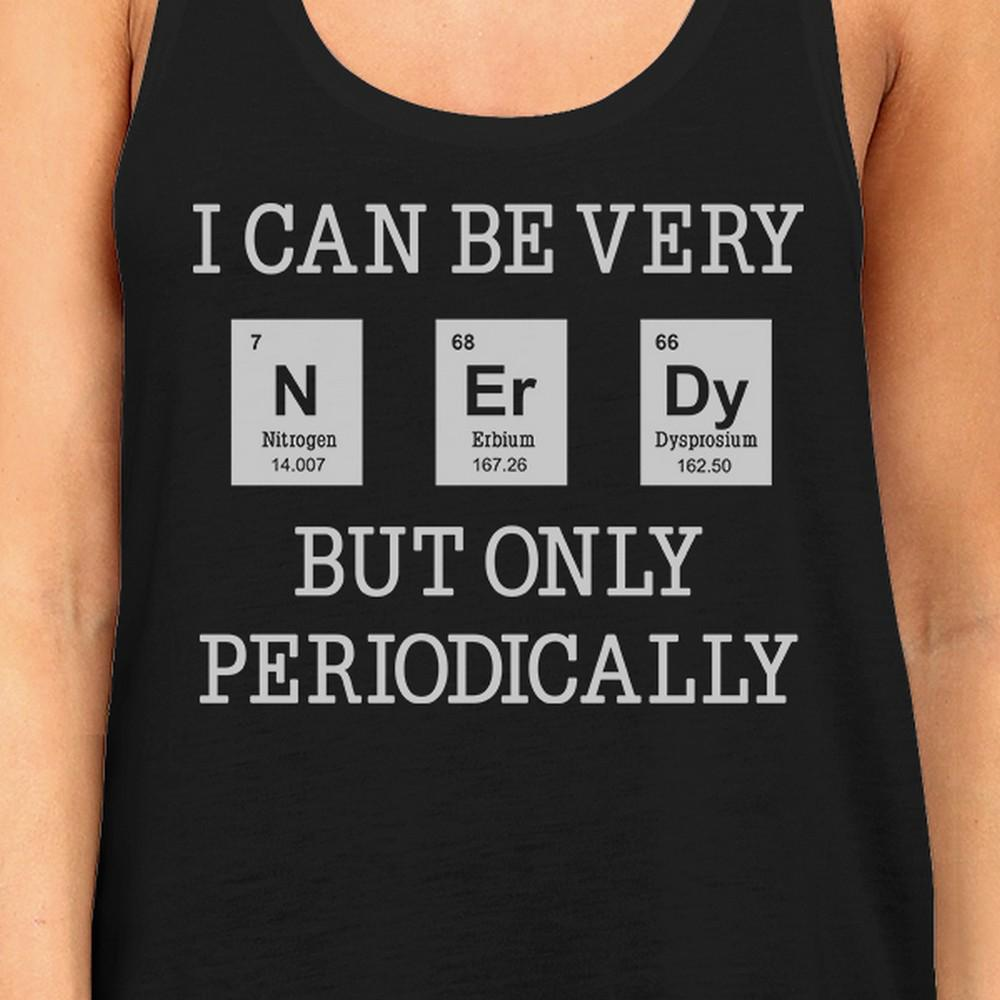 Nerdy Periodically Womens Black Tank Top