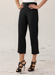 Black Straight Leg 3/4 Mela Purdie Pant Style and Grace