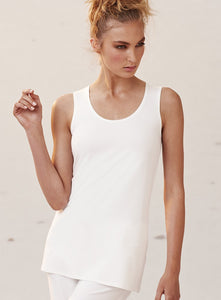 White Long Mela Purdie Singlet Style and Grace