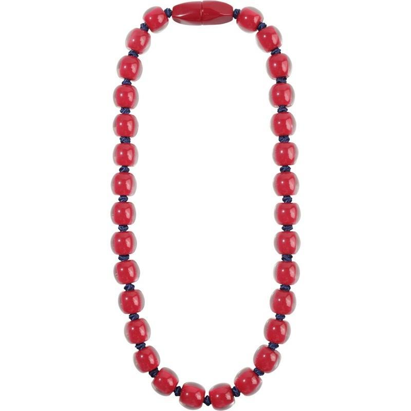 40101199187Q30 Colourful Beads Red Bead Dark Blue Cord 9187 Q30