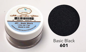 Basic Black - Silk Microfine Glitter - ElizabethCraftDesigns.com