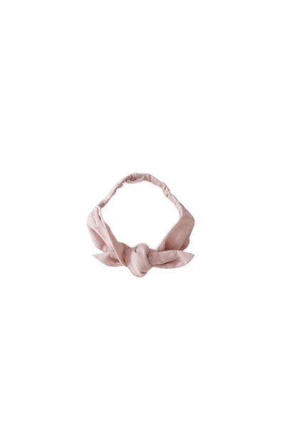 Muslin Headband Rose Smoke