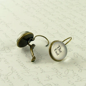 Chapter One / The End Book Earrings