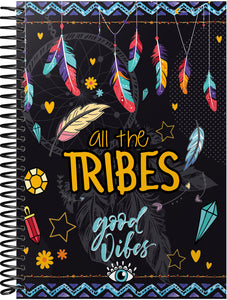 Caderno All the Tribes 1/4 Capa Dura Hot Stamping  BRBA-0334-P