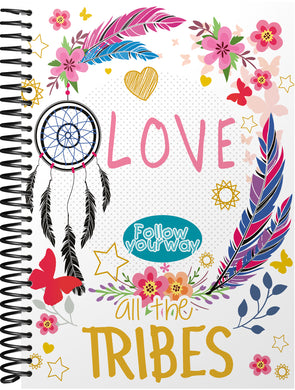 Caderno All the Tribes 1/4 Capa Dura Hot Stamping  BRBA-0334-F
