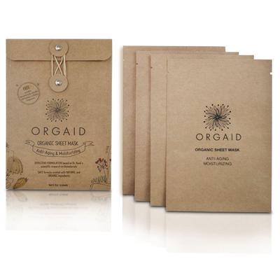 Orgaid ANTI-AGING & MOISTERIZING ORGANIC SHEET MASK - 4 PACK