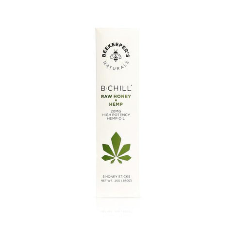 Beekeeper's Naturals B CHILL HONEY STICKS 5 pack