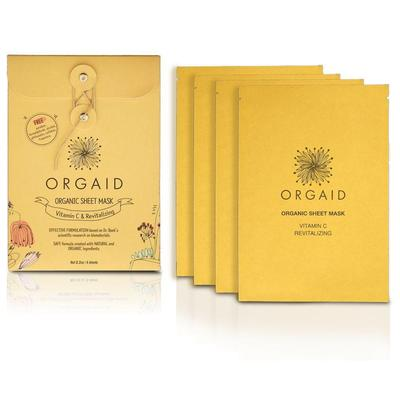 Orgaid VITAMIN C & REVITALIZING ORGANIC SHEET MASK - 4 PACK
